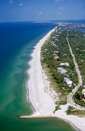 Sanibel Beach From The Air